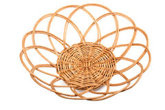 Round wicker basket Stock Photos