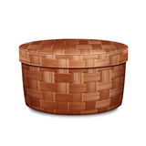 Round wicker box Royalty Free Stock Image