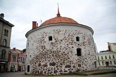 Round wierza Vyborg Obraz Royalty Free