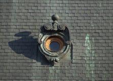 round-window-casting-shadow Royalty Free Stock Photos