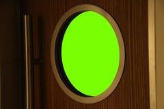 Round window on door. Resourse Stock Images