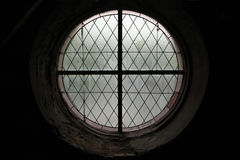 Round window in Kutna Hora, Czech Republic. Royalty Free Stock Photography