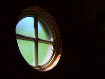 Round window perspective Stock Photography