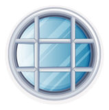 Round window with white frame. Illustration Stock Photography