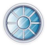 Round window with white frame. Illustration Royalty Free Stock Photography