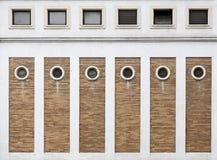 Round windows and bricks Royalty Free Stock Photos