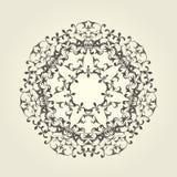 Round winieta wzór - dekoracyjny mandala projekt Zdjęcie Stock