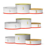 Round winners podium with empty places set Royalty Free Stock Photo