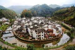 Round wioska w Chiny, Jujing wioska Obrazy Stock
