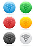 Round Wireless Icons EPS Stock Image