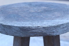 Round wooden chair placed in the outdoor garden Stock Image
