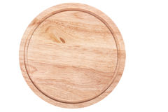 Round wooden cutting board Royalty Free Stock Photo