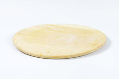 Round wooden cutting board Stock Photography