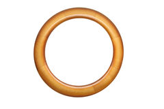 Round wooden frame Stock Image