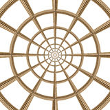 Round wooden kaleidoscope Royalty Free Stock Photos