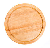 Round wooden kitchen board Stock Images
