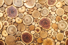 Round wooden stumps background,Trees cut section for background Stock Images