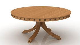 Round wooden table Royalty Free Stock Image