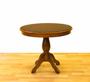 Round wooden table royalty free stock photo