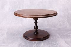 A round wooden table stock photos