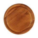 Round wooden tray salver Royalty Free Stock Photos