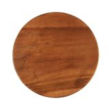 Round wooden tray salver Stock Photography