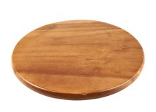 Round wooden tray salver Royalty Free Stock Images