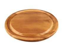 Round wooden tray salver Royalty Free Stock Photography