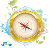 Round the world - design with compass. Eps-10 Royalty Free Stock Images