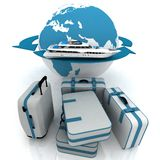 Round-world voyage Royalty Free Stock Photography