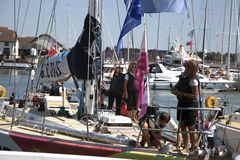 Round the World Yacht Race Stock Photo