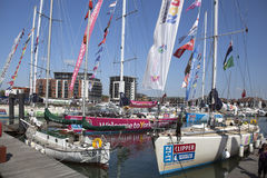 Round the World Yacht Race Stock Photography