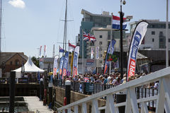 Round the World Yacht Race Stock Image