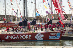 Round the World Yacht Race Royalty Free Stock Photography