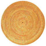 Round Woven Rattan Pattern. Stock Images