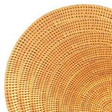 Round Woven Rattan Pattern. Stock Photo