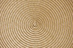 Round woven straw background Royalty Free Stock Photography