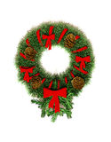 Round wreath Christmas-tree decorations Stock Image