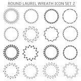 Round wreath icons Royalty Free Stock Image