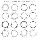 Round wreath icons stock illustration