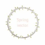 Round wreath with leaves. Vector. For design Stock Photography