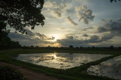 Round wycieczka Thailand Lipiec 2017 - Sukhothai Zdjęcie Royalty Free