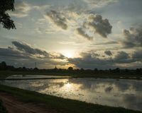 Round wycieczka Thailand Lipiec 2017 - Sukhothai Zdjęcia Stock