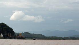 Round wycieczka Thailand Lipiec 2017 - Złoty trójbok, Łódkowata wycieczka L Obraz Royalty Free