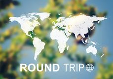 Round wycieczki chodnikowiec Zdjęcia Stock