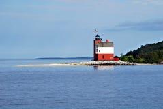 Round wyspy latarnia morska obrazy stock