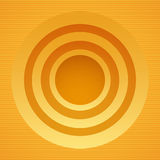 Round yellow banner Stock Images