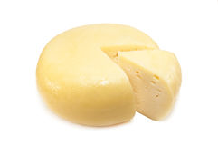 Round yellow cheese Stock Image