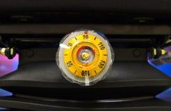 Round yellow regulator load weight Stock Image