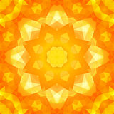 Round yellow triangles spring pattern Stock Image